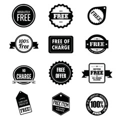 Set of Free badges, logos, and  labels