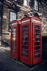 Red phone booth in Edinburgh