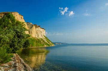 Stepan Razin Cliff on the Volga River, Saratov Region, Russia