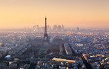 Panorama of Paris at sunset