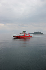 Red ferryboat