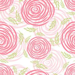 Rose vector seamless pattern. Flower background.