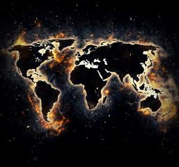 Burned world