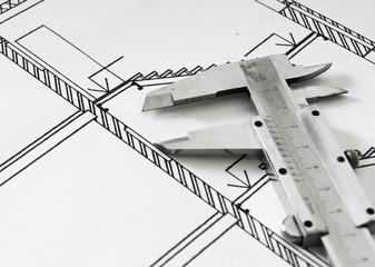Repair work. Drawings for building and caliper.