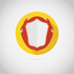 Vintage shield,  icon