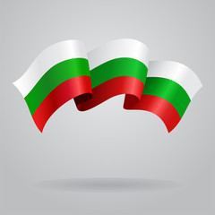 Bulgarian waving Flag. Vector illustration