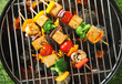 Three grilled tofu or bean curd kebabs - 79943110