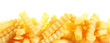 Crinkle cut fried potato chips banner - 79943190