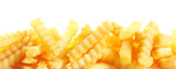 Crinkle cut fried potato chips banner