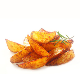 Spicy Potato Fry with Herbs on Top