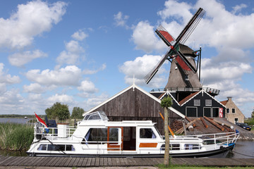 windmill with boat