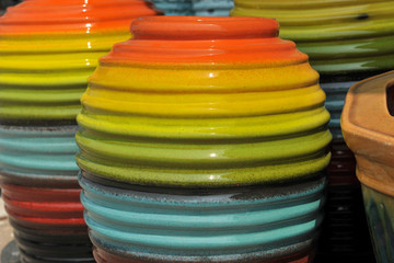 jar in many colourful
