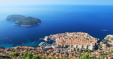Panorama of the old town Dubrovnik
