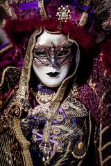 Portrait personnage portant un masque de carnaval