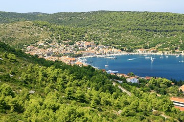 "Town ""Vis"" on island ""Vis"", Adriatic sea (Croatia)"