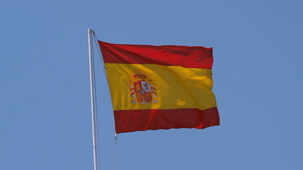 Spanish Flag Strong Wind