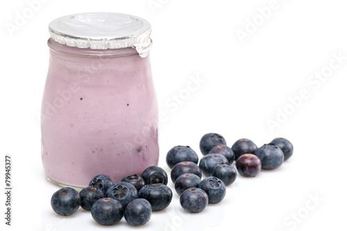 Papiers peints Produit laitier Yaourt fruits myrtilles