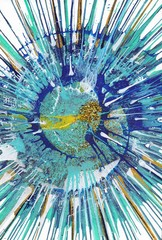 Abstract expressionism painting - Gold Fish