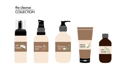 Beauty Facial Products. Vector design.