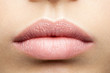 Leinwandbild Motiv Perfect natural lips