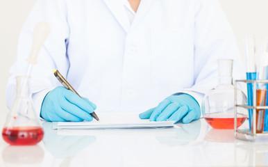 scientist in laboratory analysis chemistry