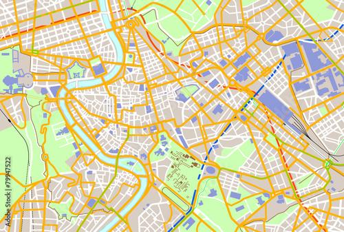 Fototapeta Rome color map