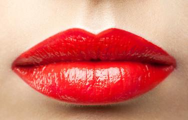 Beauty red lips