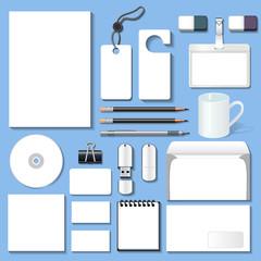 illustration of a set of design templates for business