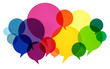 canvas print picture - Speech Bubbles Colorful Communication Thoughts Talking Concept