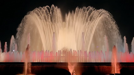 Barcelona Magic Fountain Pink Night