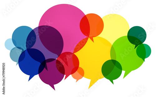 canvas print picture Speech Bubbles Colorful Communication Thoughts Talking Concept