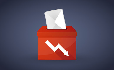 Red ballot box with a graph