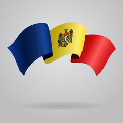 Moldovan waving Flag. Vector illustration