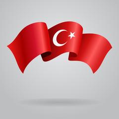 Turkish waving Flag. Vector illustration