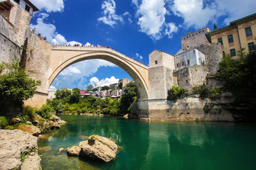 Old Bridge of Mostar in Bosnia Herzegovina