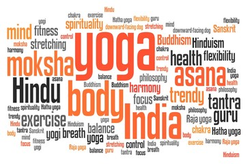 Yoga - words concept