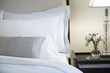 bed in a business hotel room. - 79951547