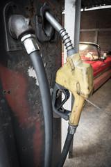 vintage  Gasoline fuel pump with car