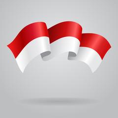 Indonesian waving Flag. Vector illustration