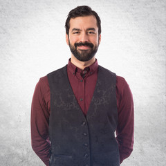 Elegant man wearing waistcoat
