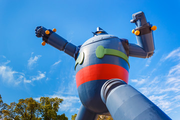 Gigantor Robot - Built to commemorate  the earthquake in Kobe