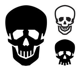 skull vector logo design template. Jolly Roger or zombie icon.