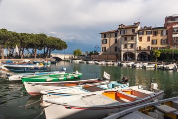 boats in the harbor, Lake Garda