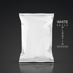 white snack plastic packaging