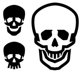 skull vector logo design template. pirate or zombie icon.
