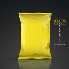 yellow snack plastic packaging
