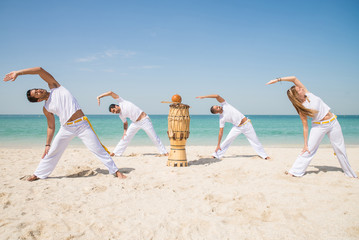 Capoeira athletes