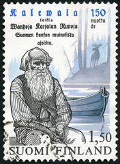 FINLAND - 1985: shows Pedri Semeikka, 150th anniv. of Kalevala