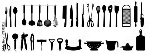 Küchenhelfer Silhouetten Set - 79955921