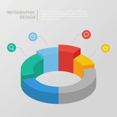 Circle diagram for infographic